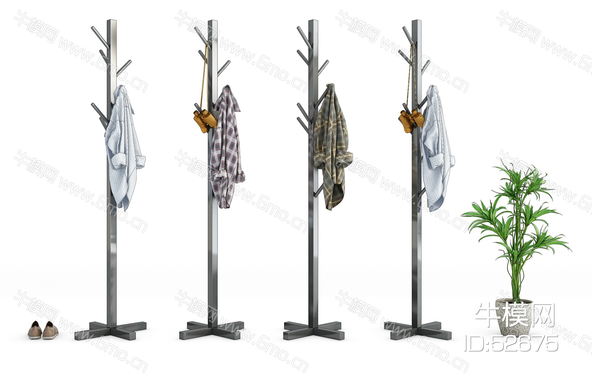 现代衣架服饰组合