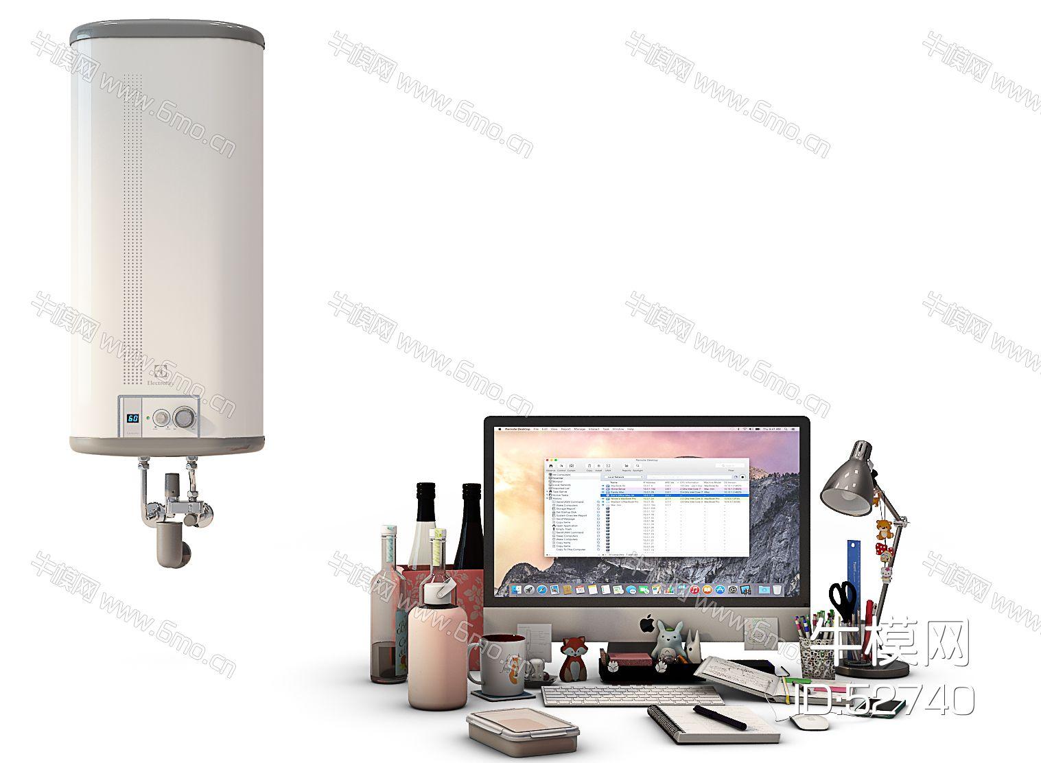 热水器苹果电脑摆件