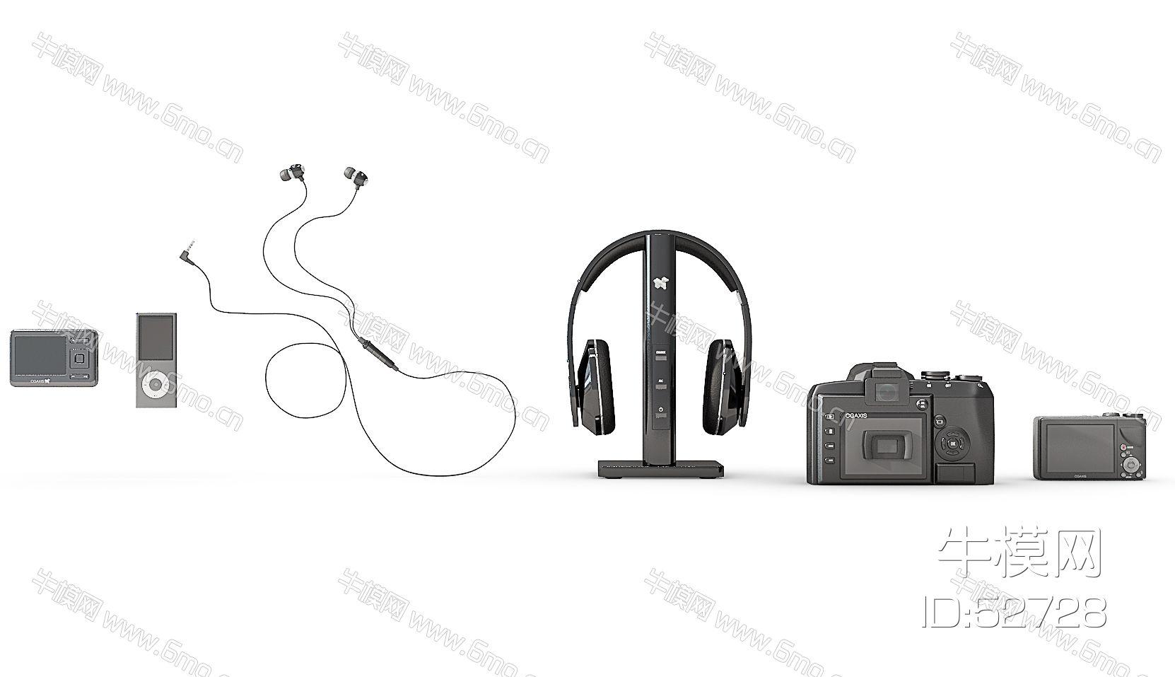 照相机mp3耳机组合