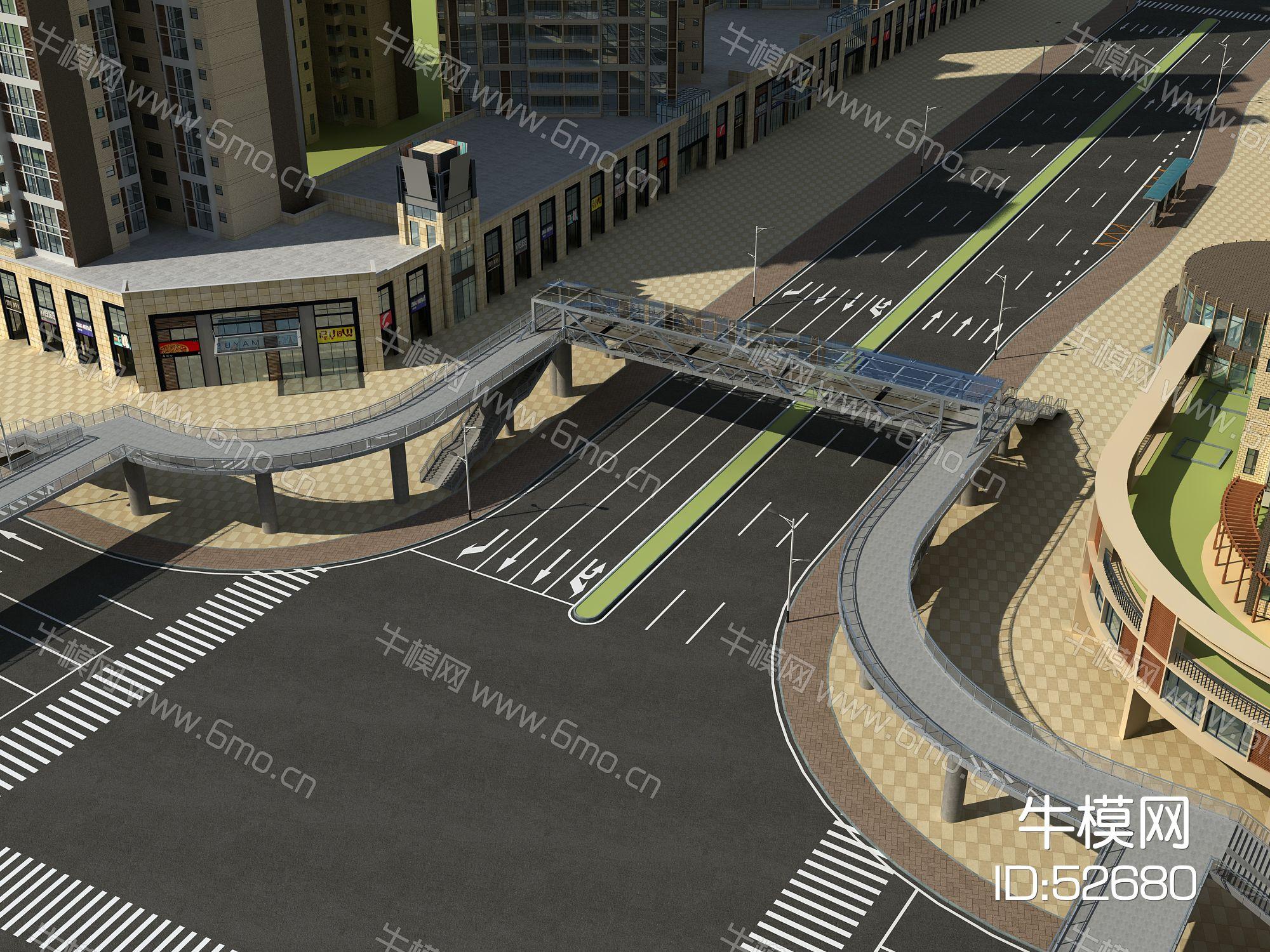 现代天桥道路