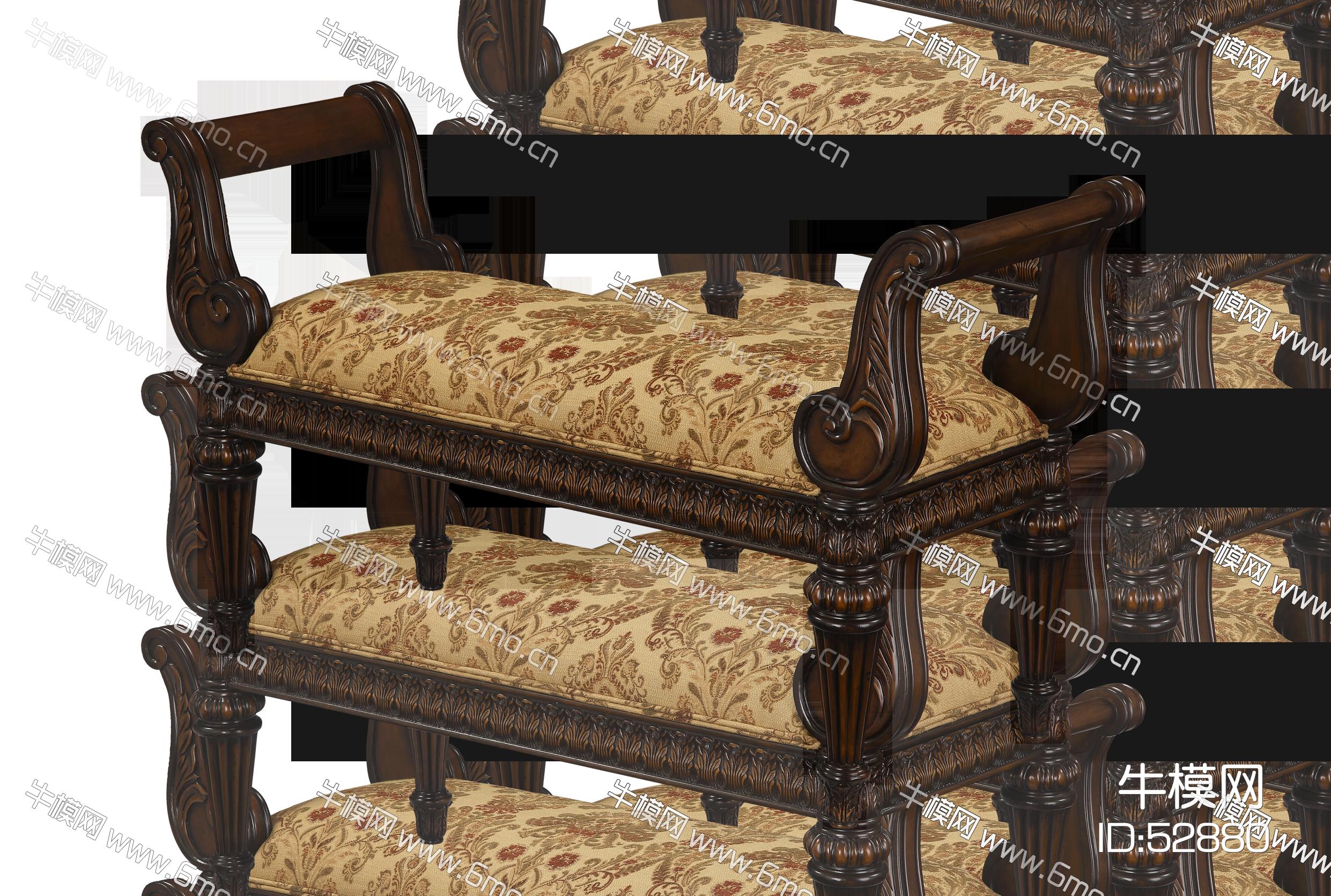 美式床尾凳