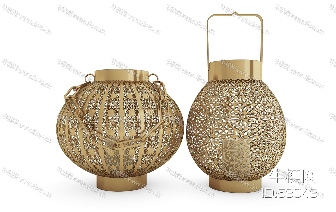 中式金属镂空灯笼烛台灯落地灯