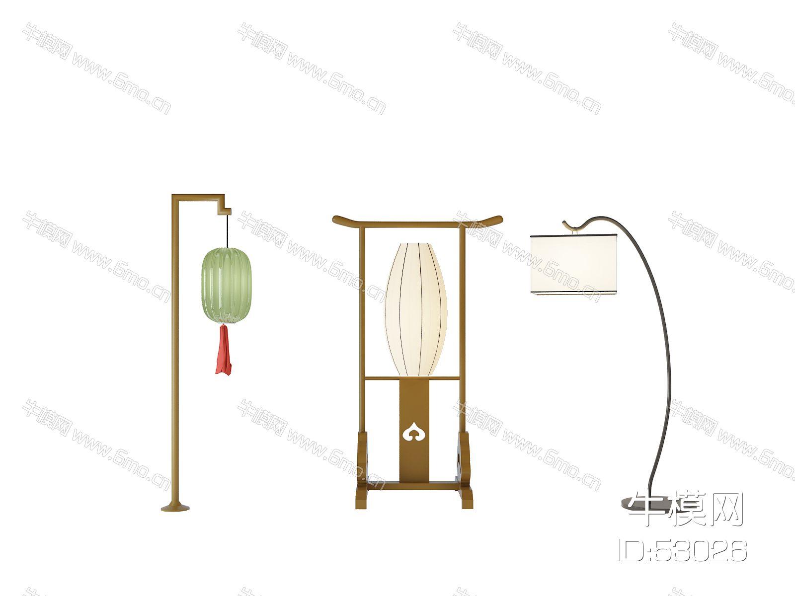 中式落地灯