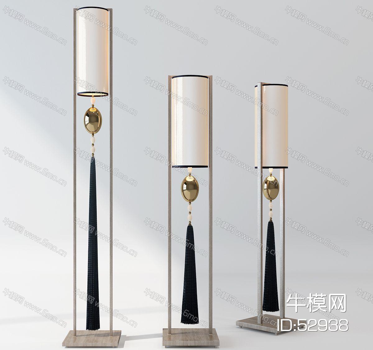 新中式落地灯