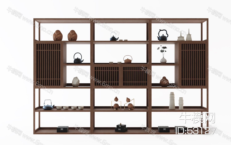 现代装饰架