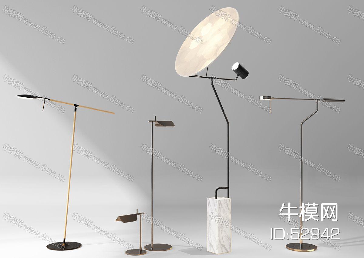 现代落地灯组合