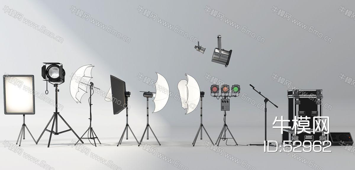现代录音棚摄影器材