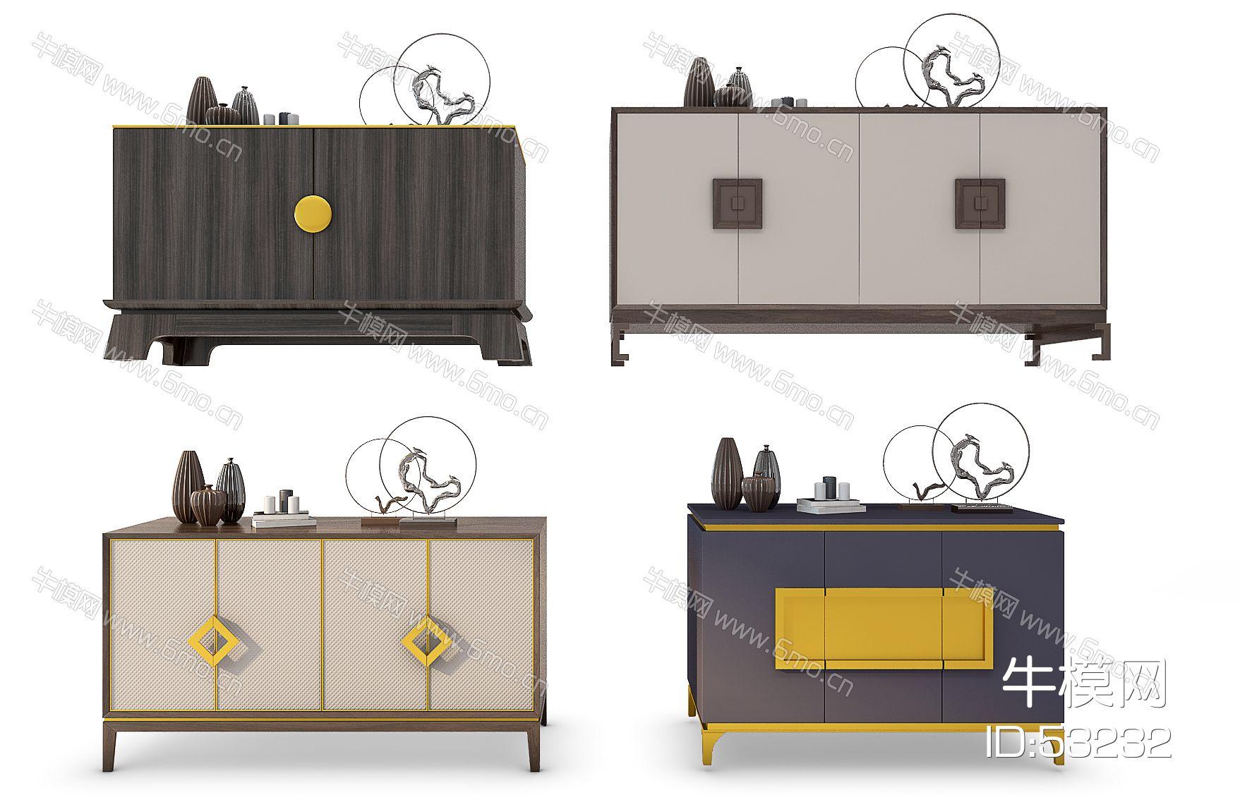 新中式玄关柜装饰柜