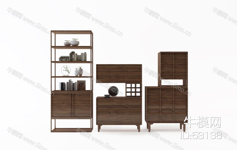 中式装饰柜组合