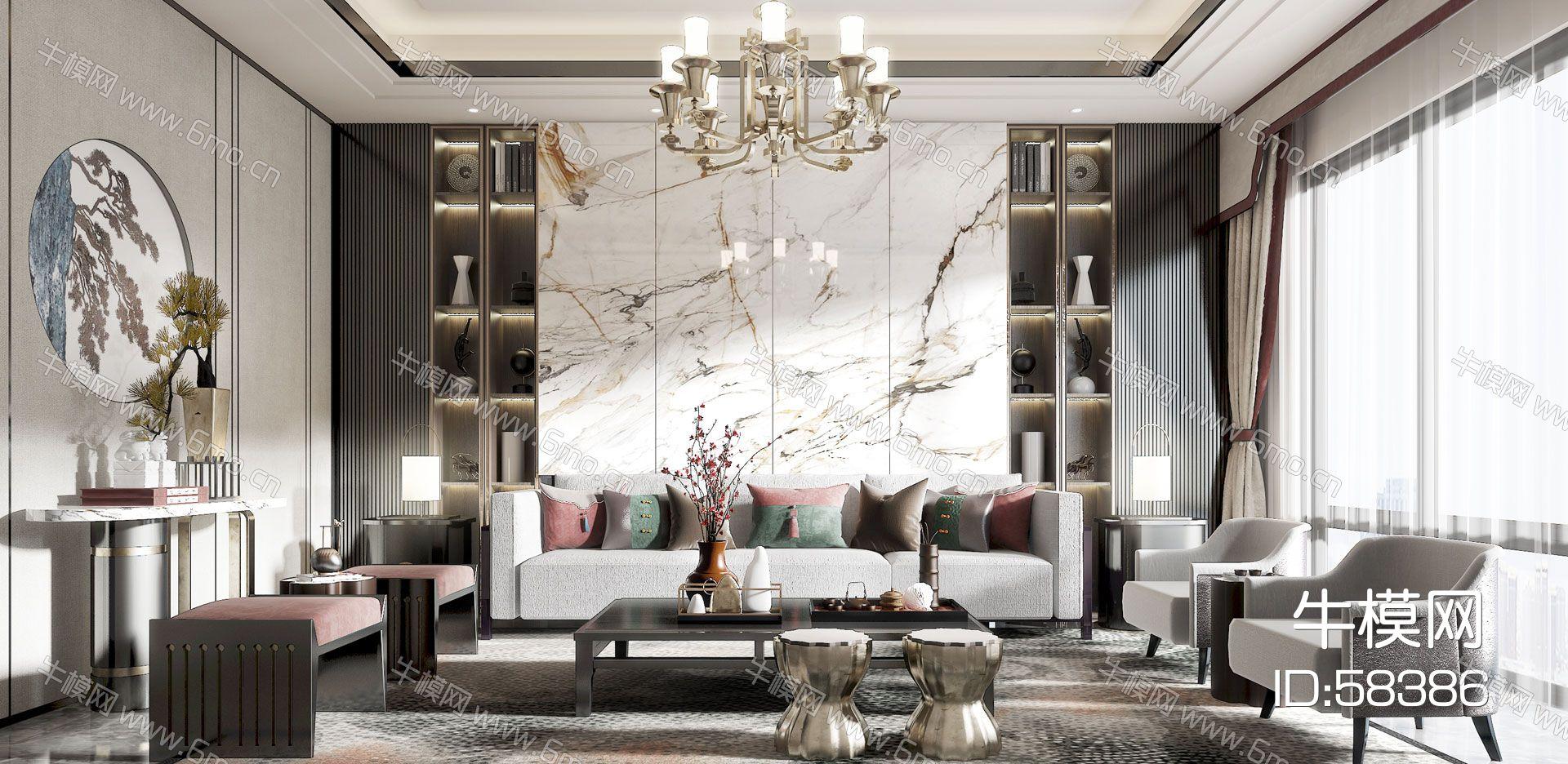 现代风格客厅模型