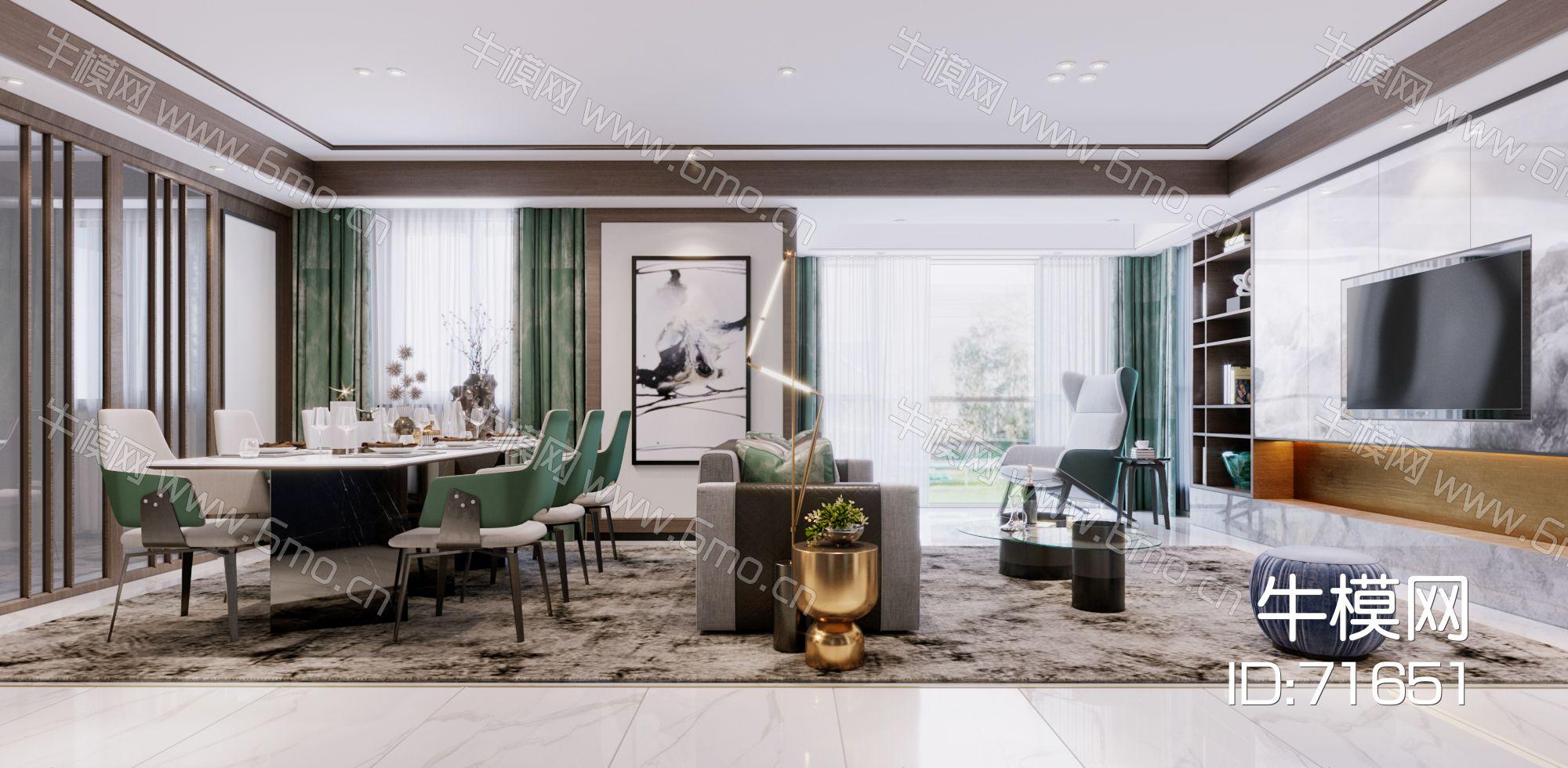 2020-现代客餐厅-Corona表现场景