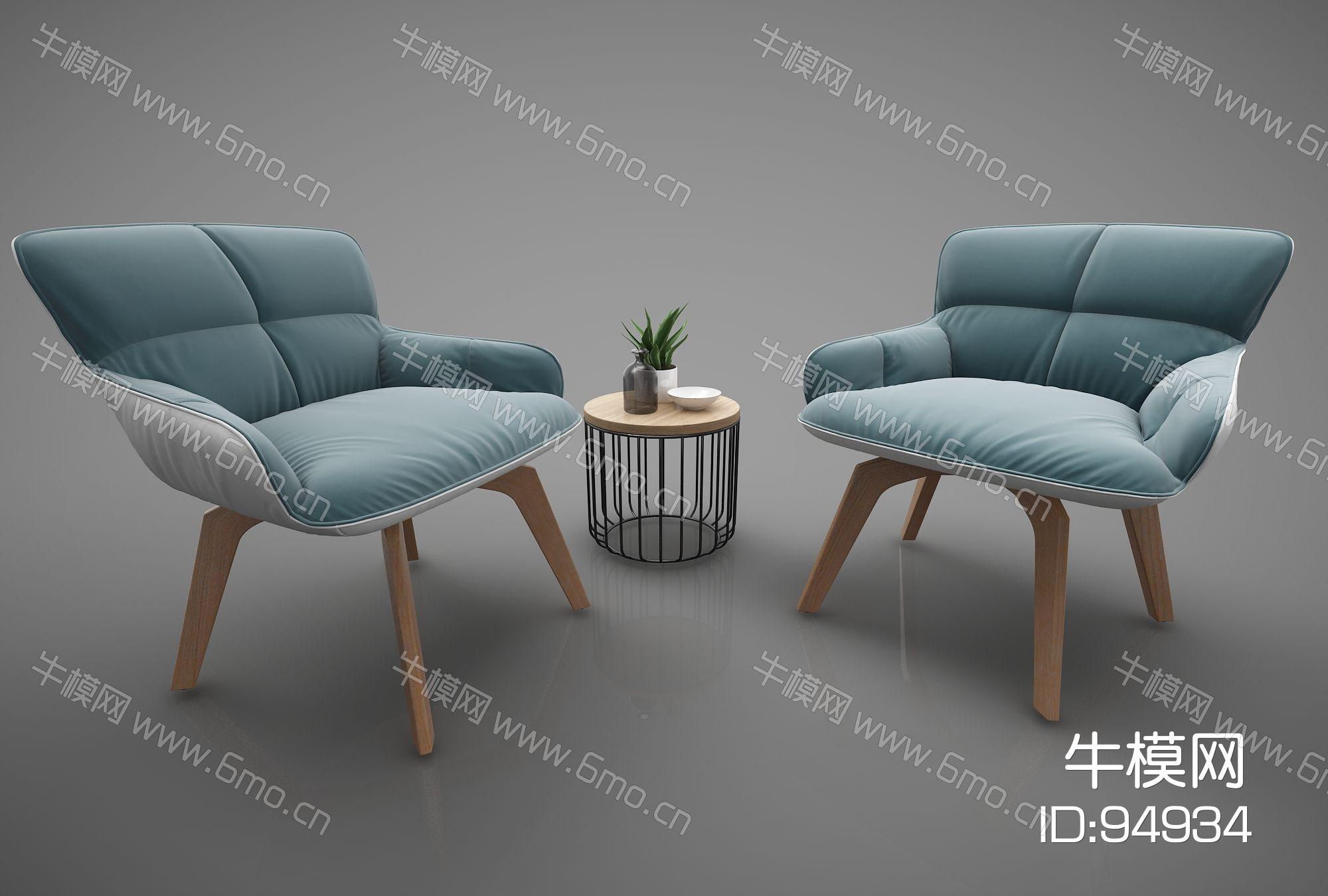 现代风格单人沙发