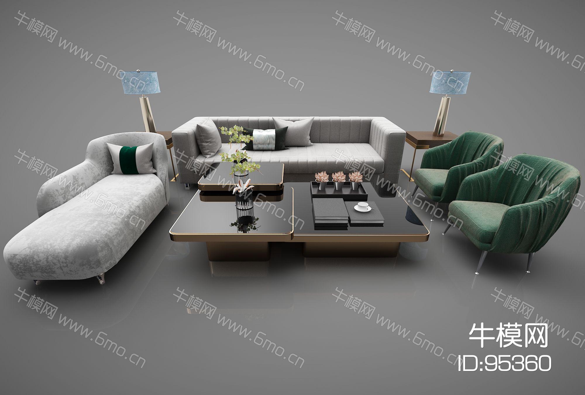 现代风格沙发组合