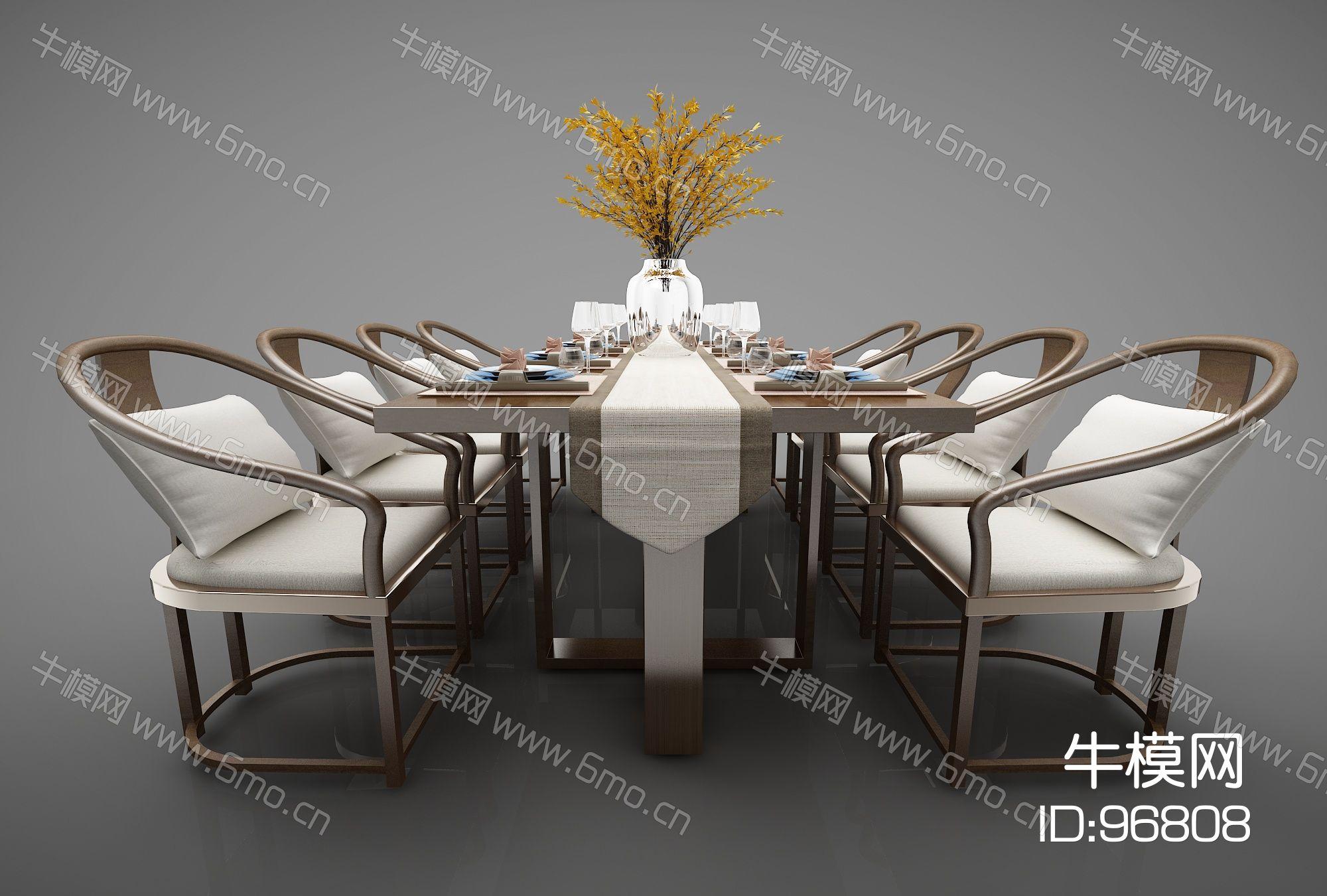 新中式风格餐桌448(2016)