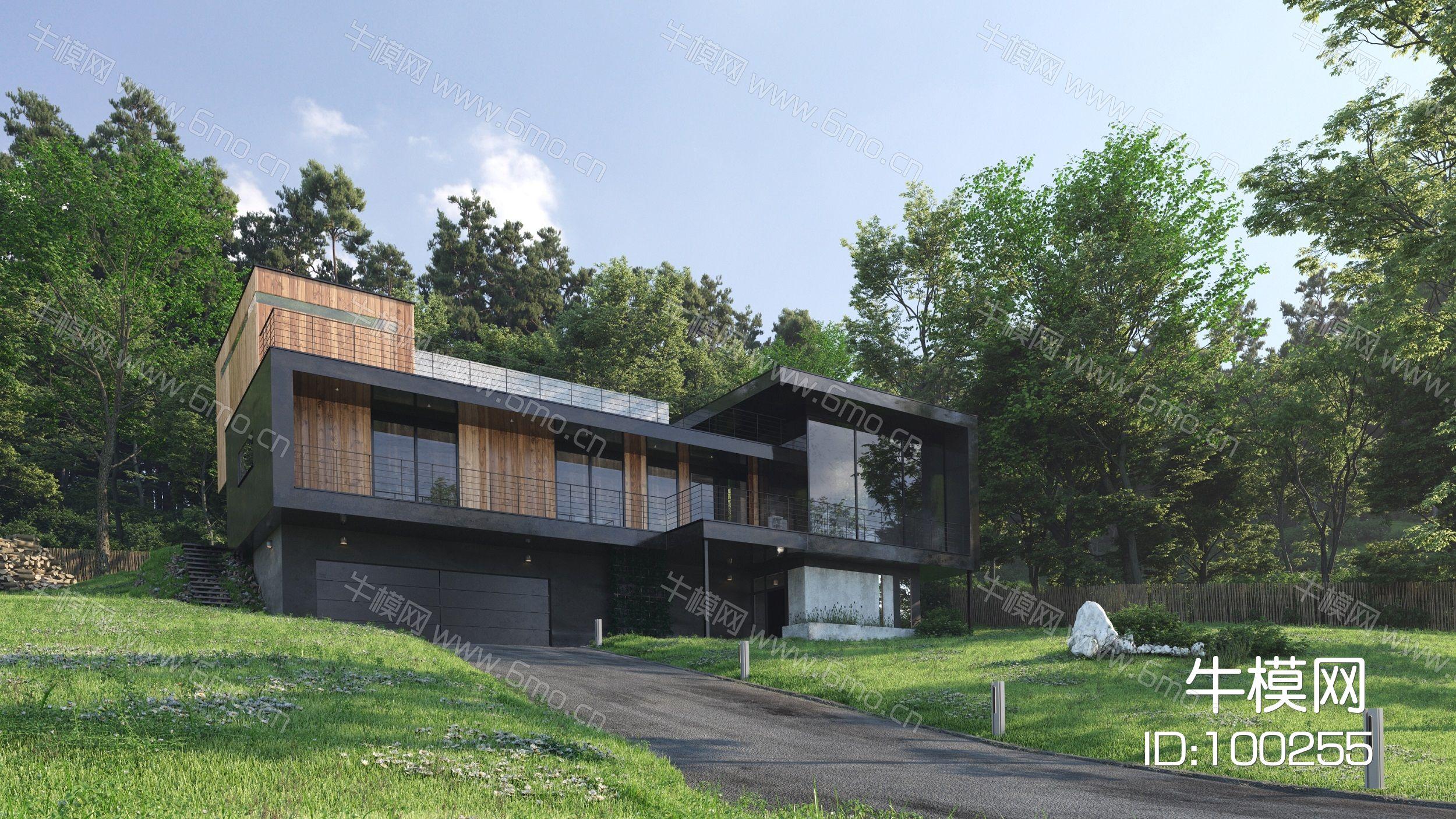 高品质别墅豪宅建筑外部景观