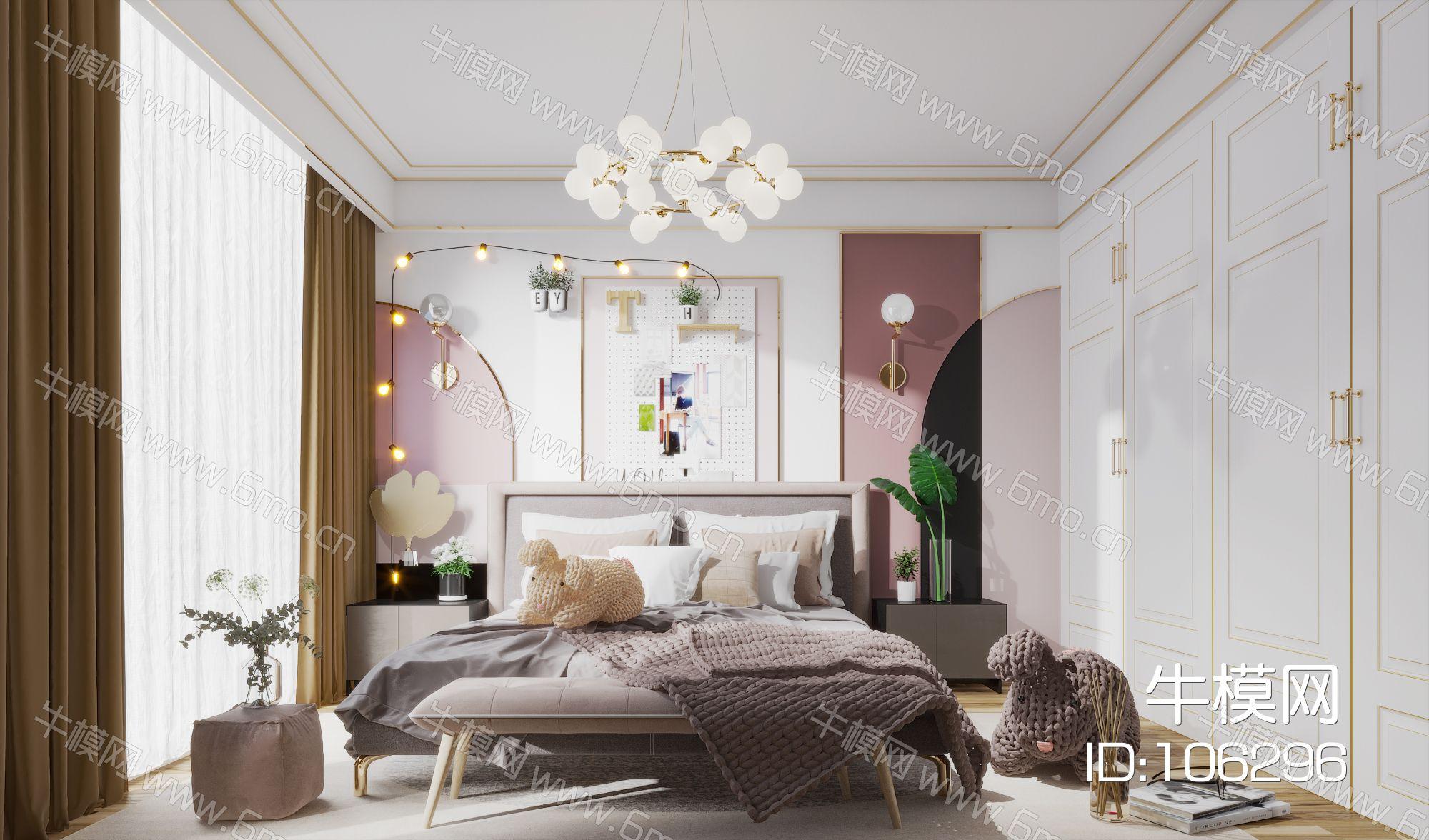 现代简约北欧轻奢风格卧室