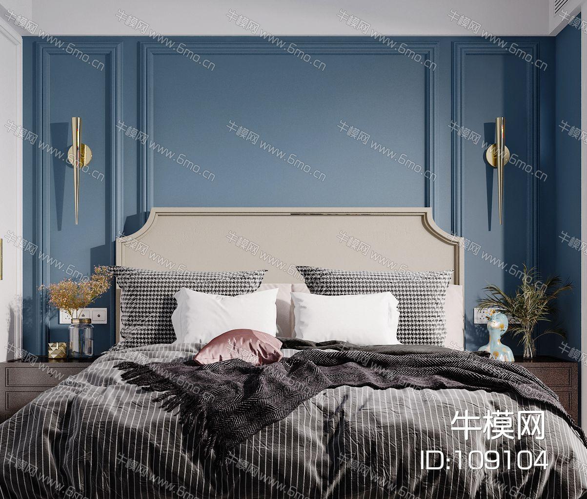 美式现代简约轻奢风格卧室