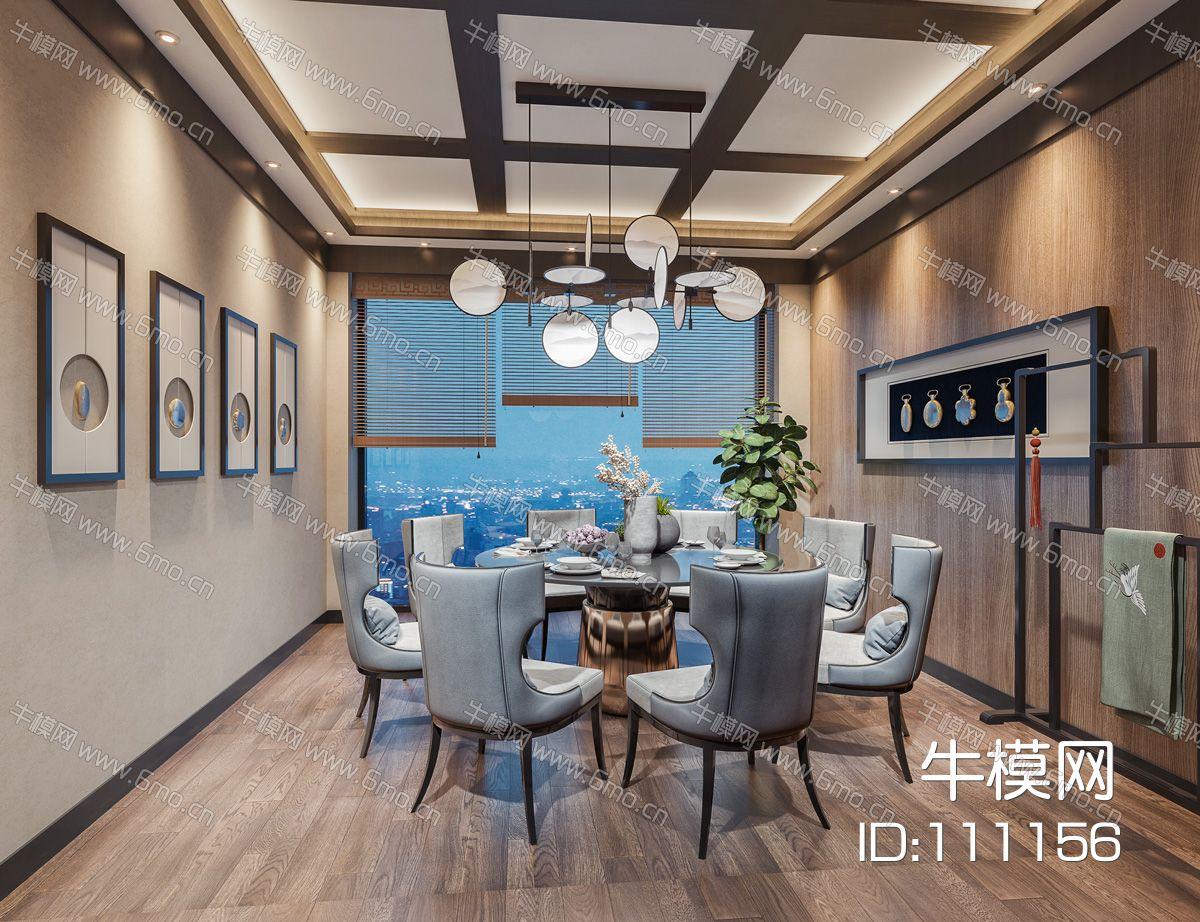 新中式餐厅包间
