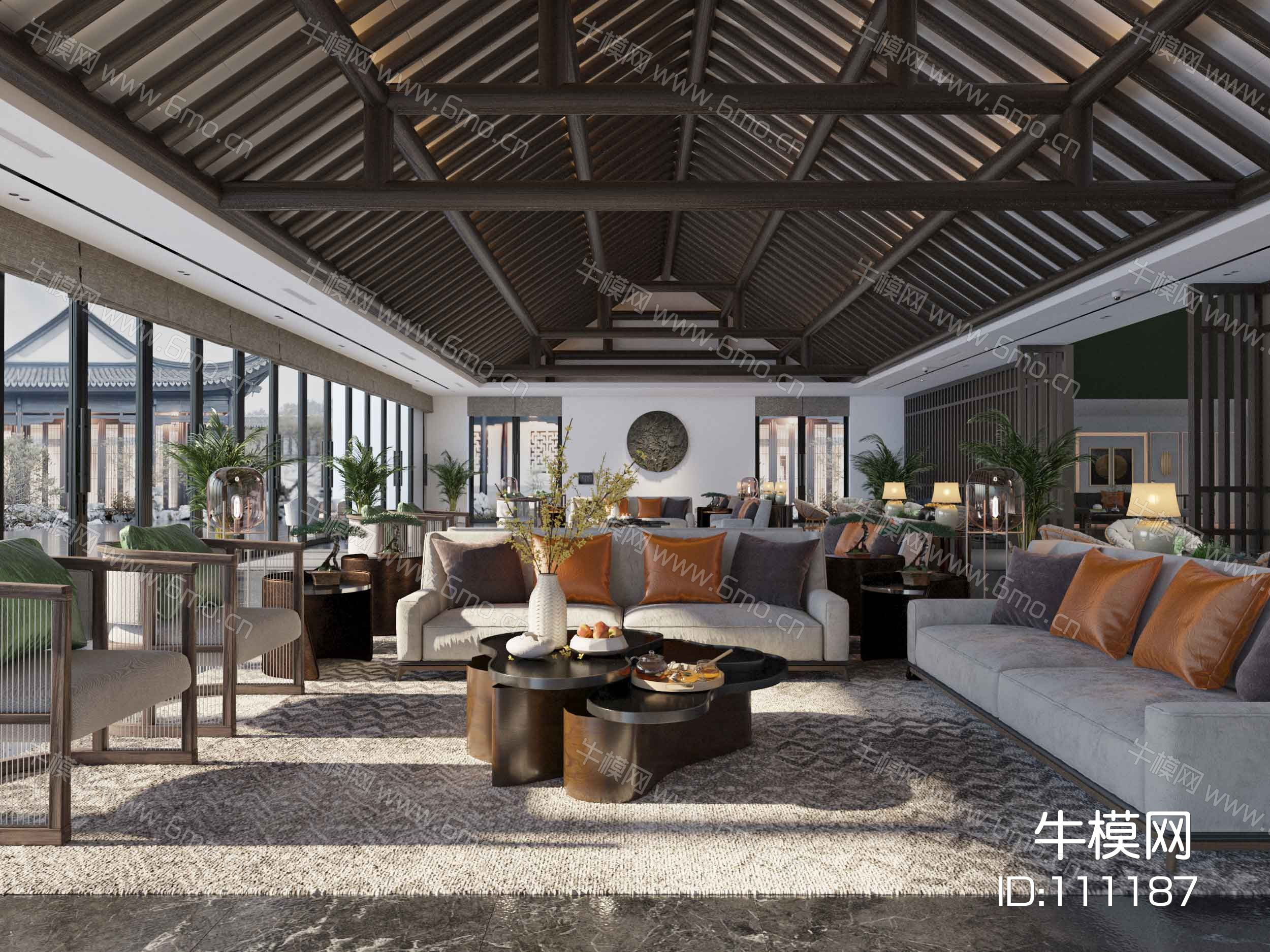 新中式酒店大堂