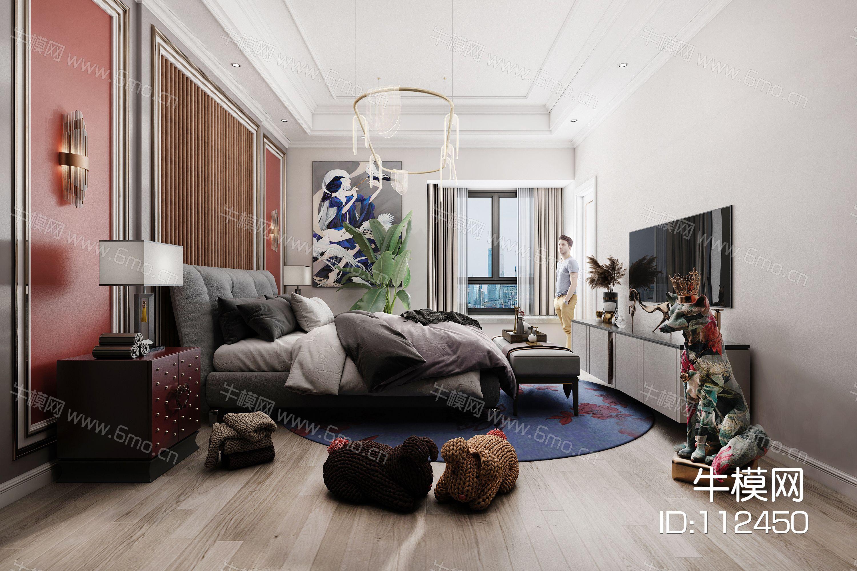 现代卧室 狐狸 玩具