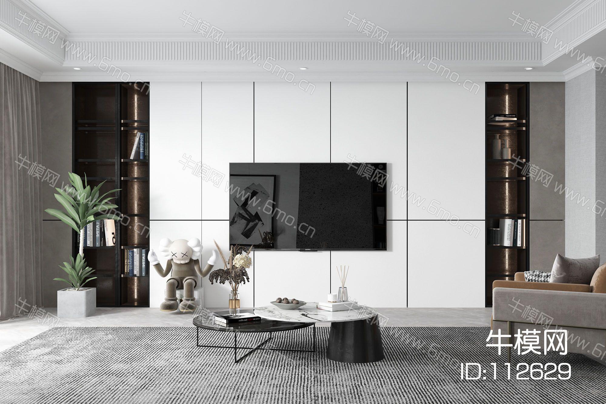 现代简约风格客厅 电视背景墙