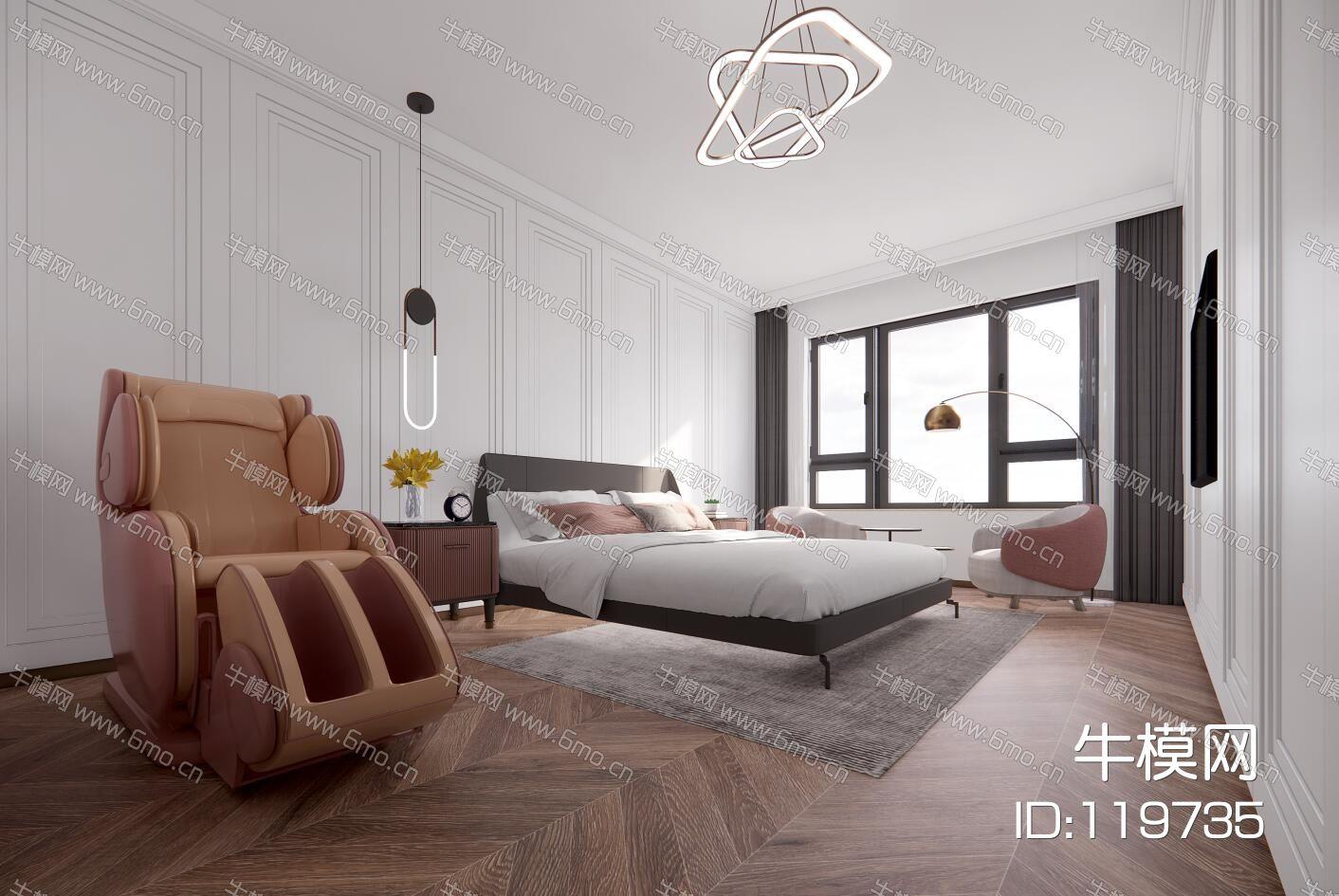 超精细现代家装卧室设计