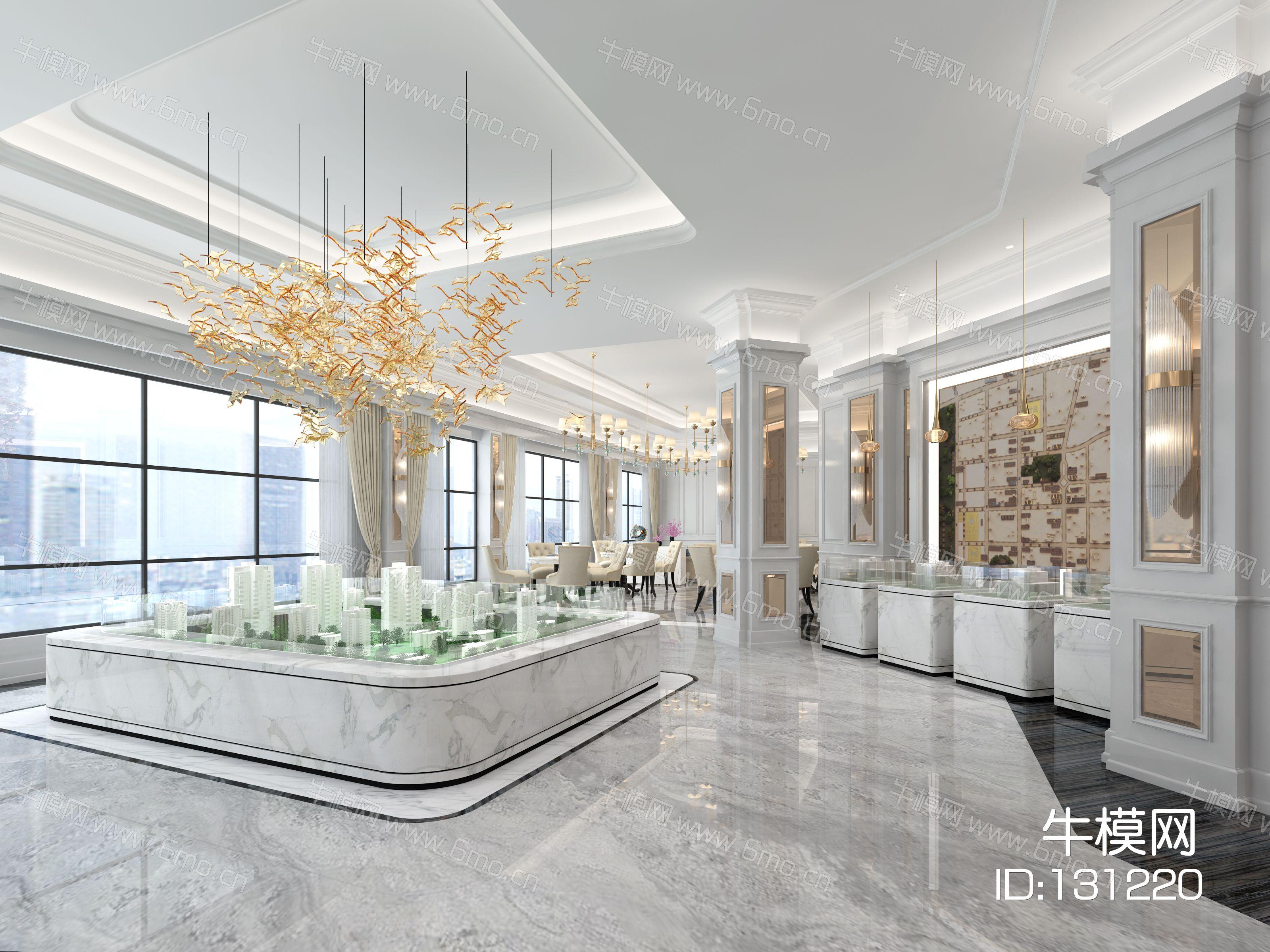 宜华地产售楼部方案二,现代简约风格,原创