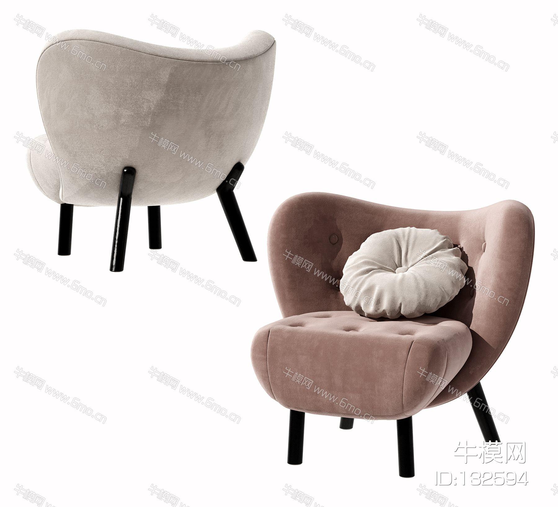 现代布艺单人沙发