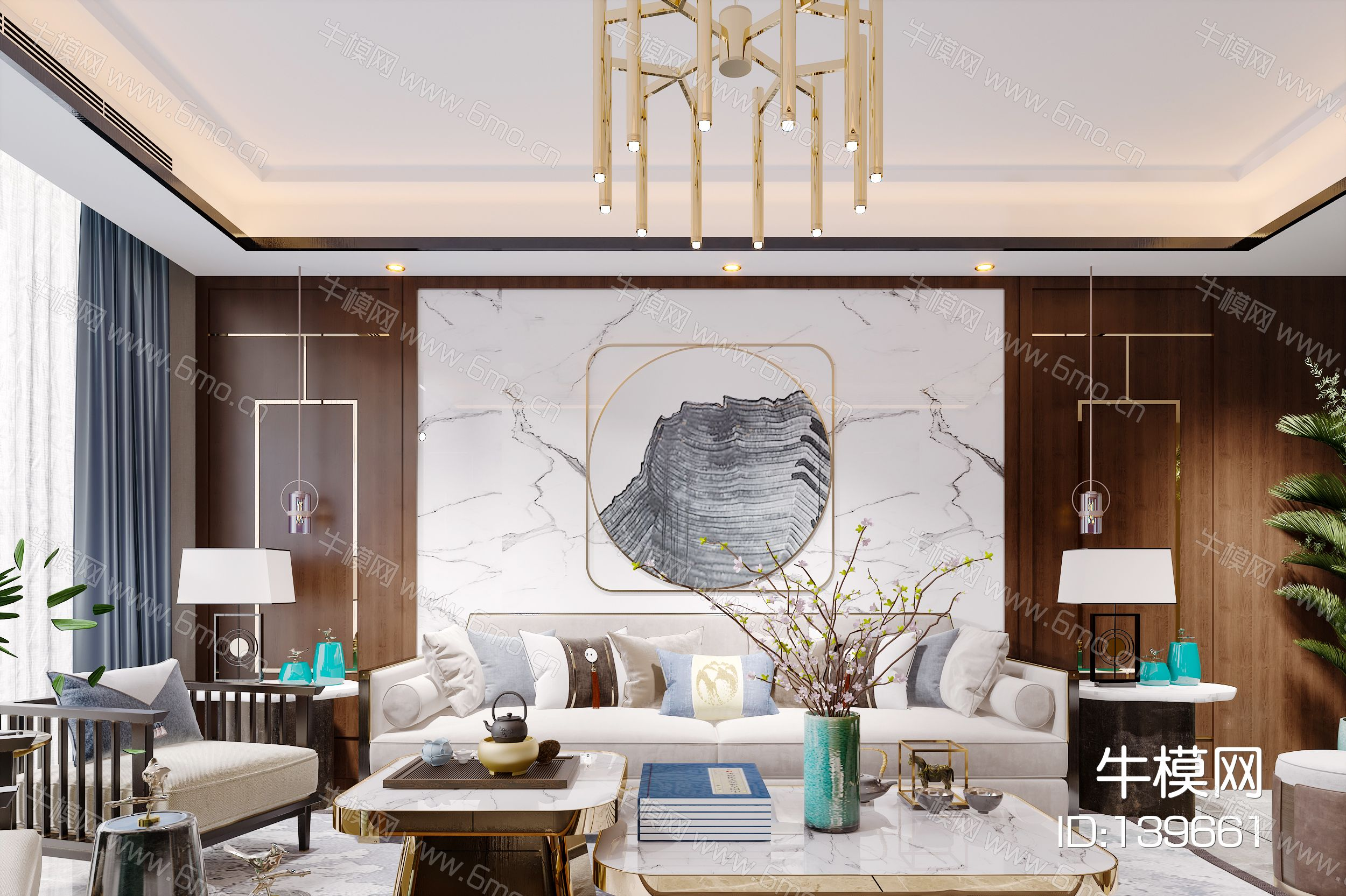 新中式简约轻奢风格客厅