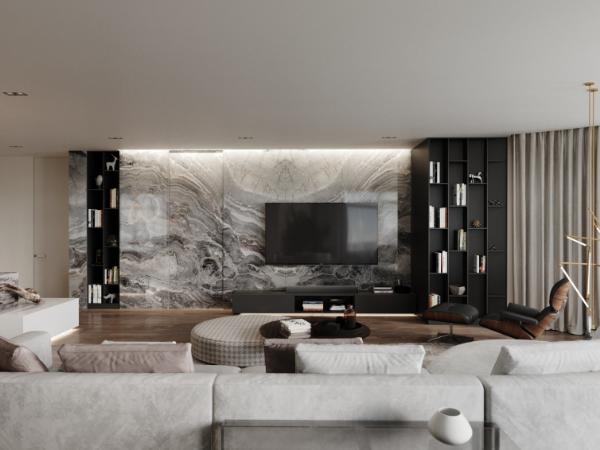 轻奢优雅家庭公寓设计