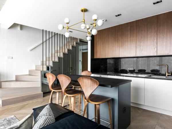 立陶宛现代舒适和豪华的复式住宅设计 | Interjero Architektura
