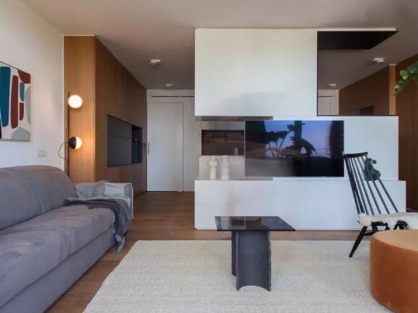 92㎡ 一室一厅,客厅、厨房这样设计空间更显大