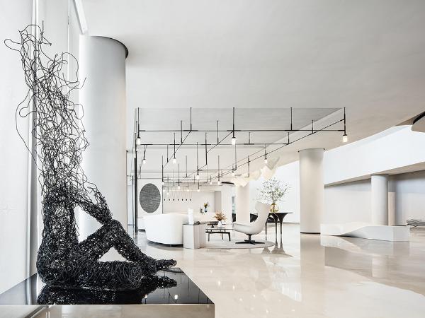 杭州世茂智慧之门体验中心:纯粹黑与白,极素至简的设计格调!
