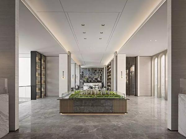 造价7500元/㎡的售楼处设计,简洁精致的超品质设计