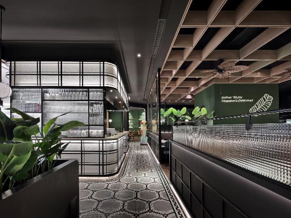 餐饮空间设计·「艺鼎新作·星美聚」跟随'鱼尾狮',游走新加坡风情餐厅!
