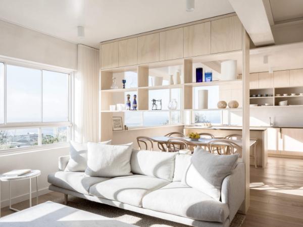 65平自然原木色极简公寓改造设计