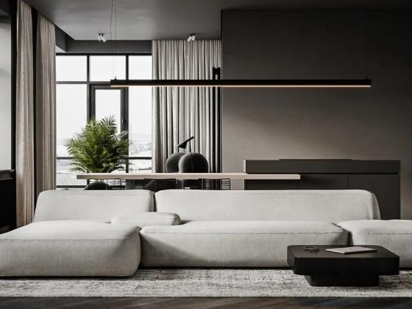黑白灰+极简,超有格调的家