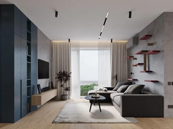 71㎡现代简约住宅,纯净优雅的高级质感