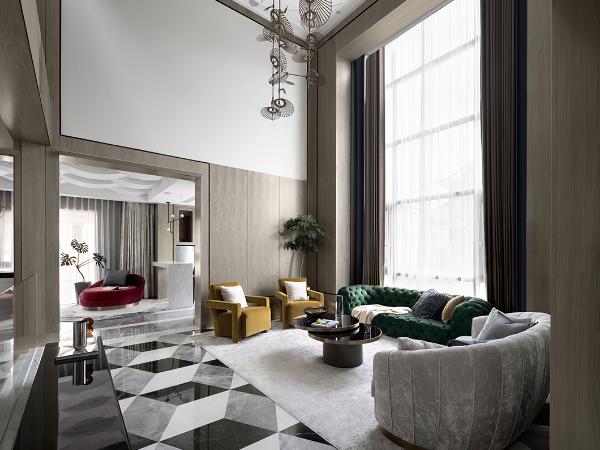 700㎡私人别墅,超美的色彩设计!