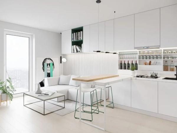 设计精妙的时尚空间,小户型住宅的春天来了!