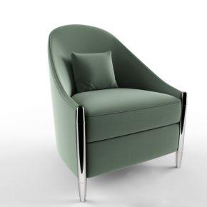 现代布艺单人沙发3d模型下载