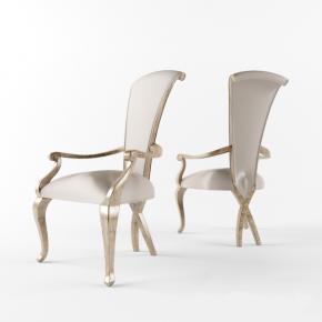 简欧皮质单人化妆沙发椅3d模型下载