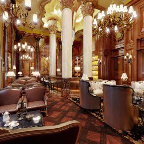欧式酒店会所休息区3D模型下载