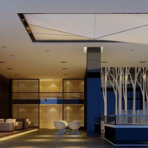 现代售楼处3d模型下载
