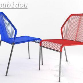 藤制单人椅子