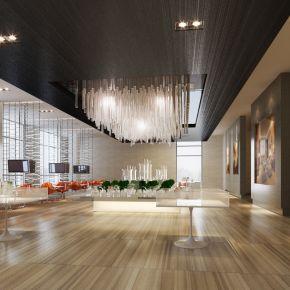 现代售楼中心3d模型下载