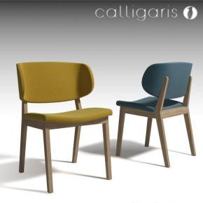 北欧实木布艺单人椅子