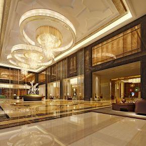 五星级酒店大堂3D模型