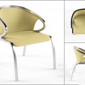 现代皮革单椅