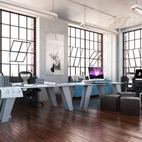 工业风办公室3D模型